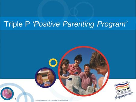 Triple P 'Positive Parenting Program'