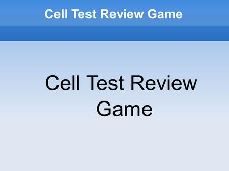Cell Test Review Game. Round One: Cell Diagrams Round One Match the letter to the organelle 1. Golgi Body 2. Nucleolus 3. Lysosome 4. Cell membrane 5.