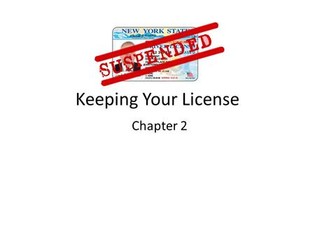 Keeping Your License Chapter 2. YOUR DRIVING RECORD The RMV tracks your history as a driver. This is called your driving record. Your record lists three.