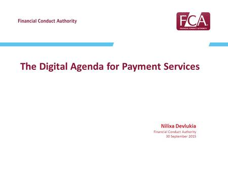 The Digital Agenda for Payment Services
