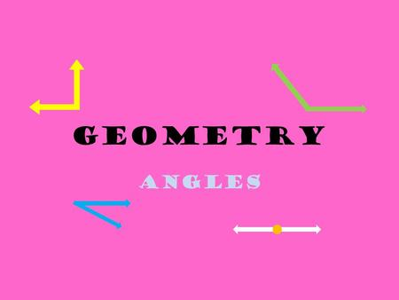 Geometry Angles Pop Quiz I am a capital letter. I have two parallel line segments. I also have a line segment perpendicular to the two parallel lines.