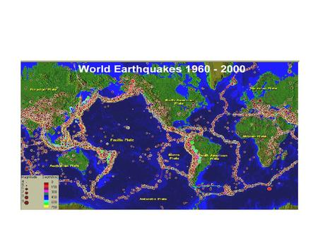 Data for Plate Tectonics Earthquakes –World wide network for detecting nuclear tests Magnetic stripes –From World War 2 submarine detection Bathymetry.