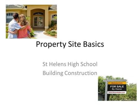 Property Site Basics St Helens High School Building Construction.
