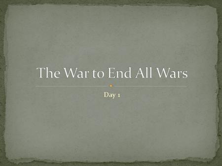 Day 1. Describe how the United States helped the Allies win the war.