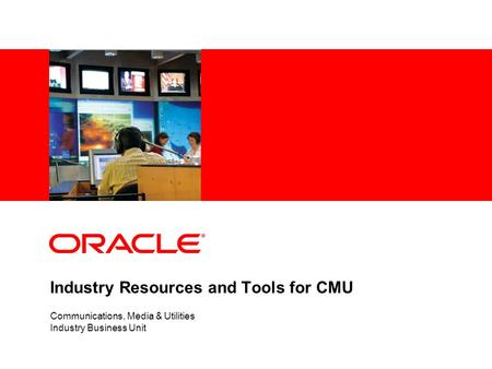 Industry Resources and Tools for CMU Communications, Media & Utilities Industry Business Unit.