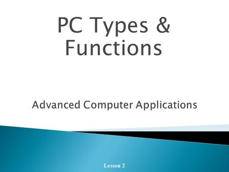 Advanced Computer Applications