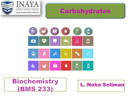 L. Noha Soliman Carbohydrates Objectives  Introduction..  Functions Of Carbohydrates.  Types Of Carbohydrates. Of Carbohydrates.  Classification.