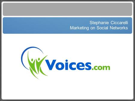 Text Stephanie Ciccarelli Marketing on Social Networks.