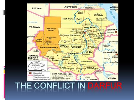 The Darfur Conflict is an ongoing civil war centered on the Darfur region. It began in February 2003 when the Sudan Liberation Movement/Army and Justice.