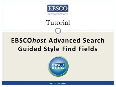 EBSCOhost Advanced Search Guided Style Find Fields Tutorial support.ebsco.com.