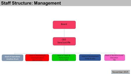 Staff Structure: Management
