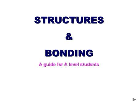 STRUCTURES&BONDING A guide for A level students. GIANT IONIC CRYSTAL LATTICE Cl - Chloride ion Na + Sodium ion Oppositely charged ions held in a regular.