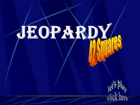Jeopardy Chap. 11 Vocab Atomic Theory The Atom Chap. 12 Vocab Group or Period Parts of a Periodic Table Misc. 20 40 60 80 100 120.
