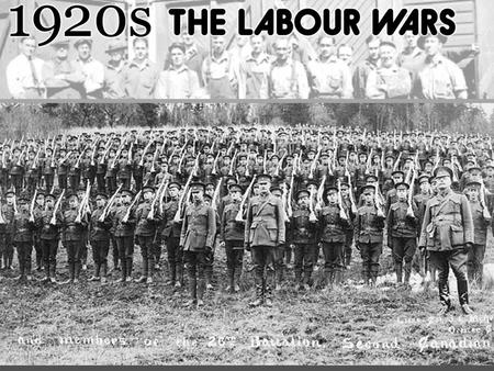 1918-1919 Veterans Return Few Jobs, few benefits Not given compensation for the war No pensions, medical care.