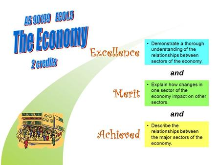 Describe the relationships between the major sectors of the economy. Demonstrate a thorough understanding of the relationships between sectors of the economy.