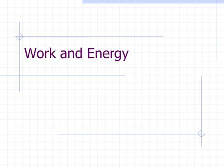 Work and Energy. Work… …is the product of the magnitude of displacement times the component of force parallel to the displacement. W = F ‖ d Units: N.