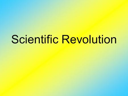 Scientific Revolution. The Scientific Revolution was sparked by the Renaissance, which caused the spirit of curiosity in many fields of Science and Mathematics.