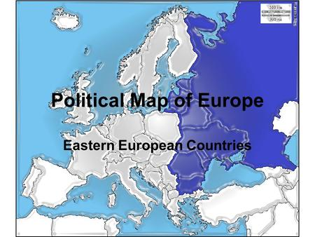 Political Map of Europe Eastern European Countries.