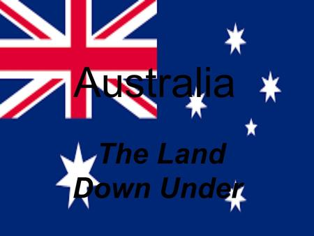 Australia The Land Down Under. Introduction Australia is the only Country and a Continent It's the largest island in the world. It's the 6 th largest.