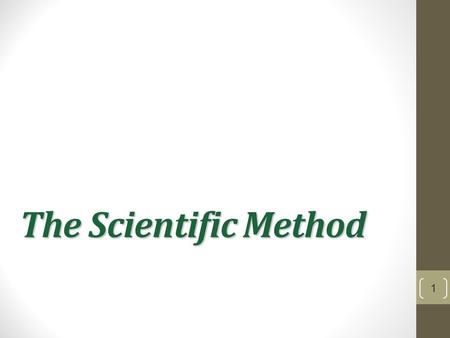 The Scientific Method 1. Theory vs Hypothesis Theory- generalization that explains a body of known facts or phenomena Hypothesis- a testable prediction.