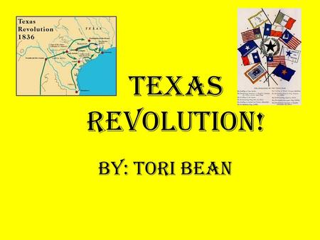 Texas Revolution! By: Tori Bean. My project will be over Davy Crockett ABOUT: His family His career before the military His armed services His role at.