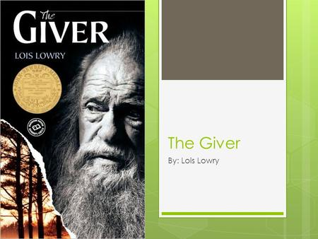 The Giver By: Lois Lowry. Characters Jonas The Giver.