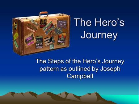 The Steps of the Hero's Journey pattern as outlined by Joseph Campbell