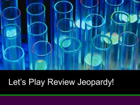 Let's Play Review Jeopardy!. Scientific Method Vocab. Global Chemistry Areas of Chemistry $100 $200 $300 $400 $500 $400 $500 $100 $200 $300 $400 $500Misc.