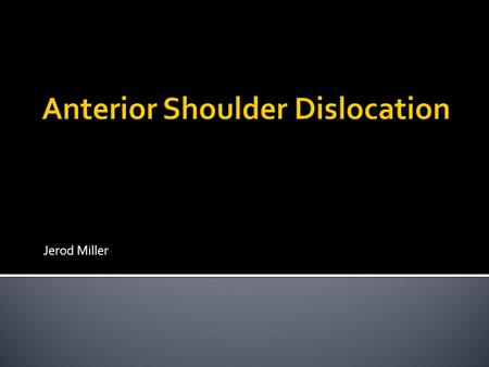 Jerod Miller.  Condition Overview  Case information  Surgical decision  Immobilization  Therapeutic Exercise Phases  Results  References.