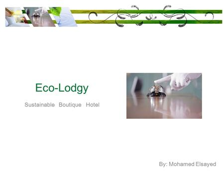 Sustainable Boutique Hotel