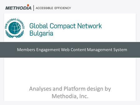 Members Engagement Web Content Management System Analyses and Platform design by Methodia, Inc.