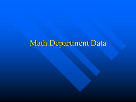 Math Department Data. Algebra II 1 st Period LEVEL I LEVEL II LEVEL III LEVEL IV # of students 1850 % PROFICIENT: 33% % NONPROFICIENT: 67%