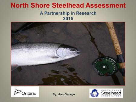 North Shore Steelhead Assessment A Partnership in Research 2015 By: Jon George.