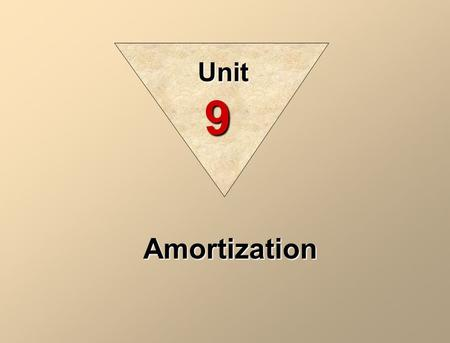 Amortization Unit 9. Amortization is the process of allocating to expense the cost of a capital asset over its useful (service) life in a rational and.