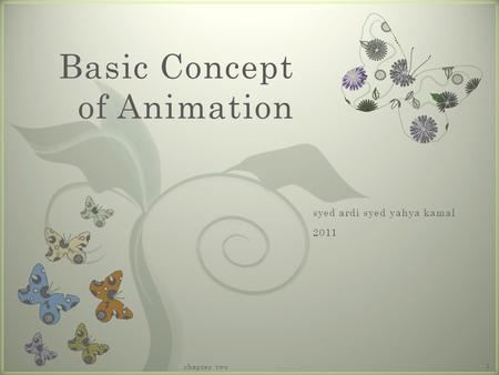 7 Basic Concept of Animation chapter two 1. What is Animations? chapter two2.