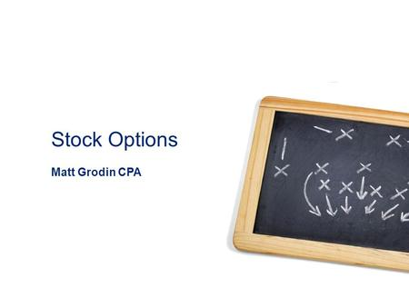 Stock options definicion