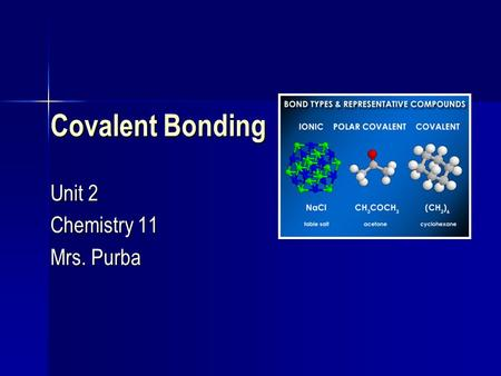 Covalent Bonding Unit 2 Chemistry 11 Mrs. Purba. Homework Solutions.