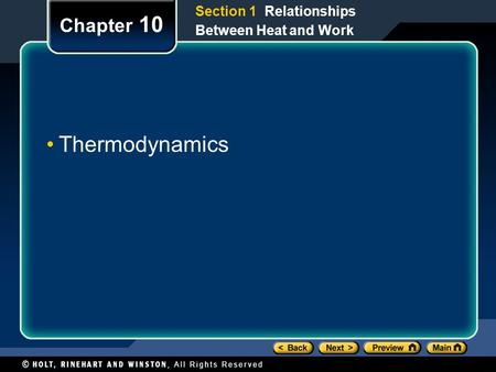 Thermodynamics Chapter 10