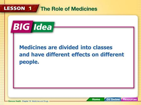Medicines are divided into classes and have different effects on different people.