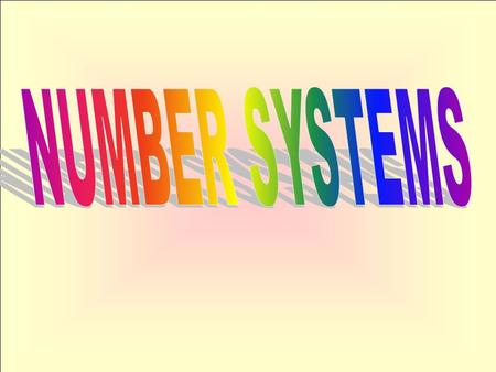 NUMBER SYSTEMS.