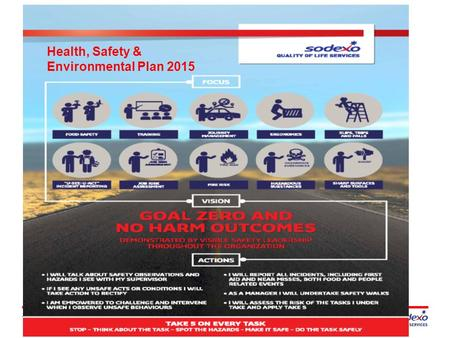 HSE Plan meeting - November 20141 – Health, Safety & Environmental Plan 2015.