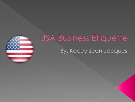 USA Business Etiquette