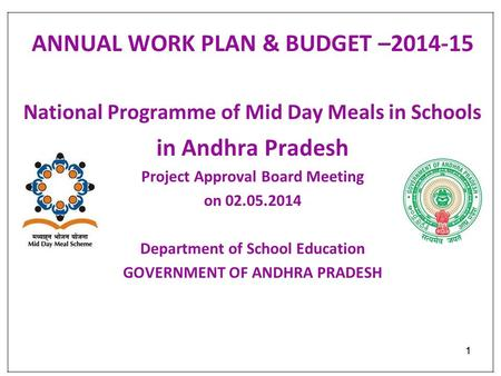 ANNUAL WORK PLAN & BUDGET – in Andhra Pradesh