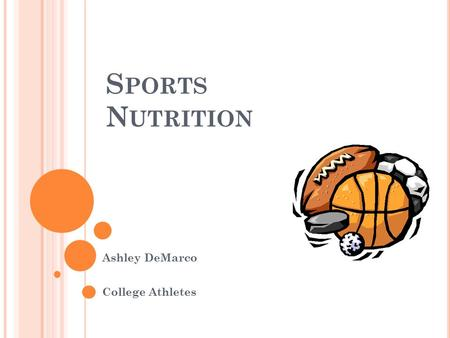 S PORTS N UTRITION Ashley DeMarco College Athletes.