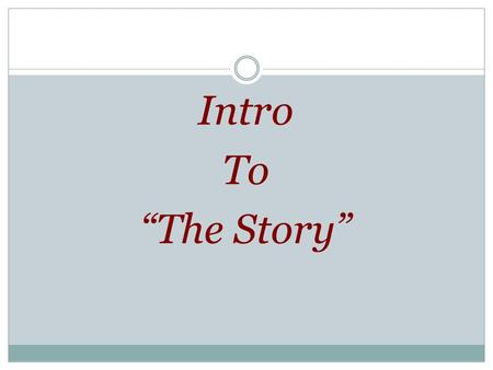 "Intro To ""The Story"". 5 Movements Of ""The Story"" (Bible History)"