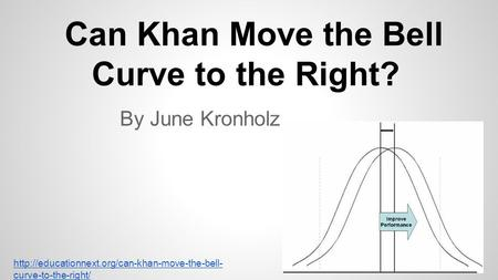 Can Khan Move the Bell Curve to the Right? By June Kronholz  curve-to-the-right/