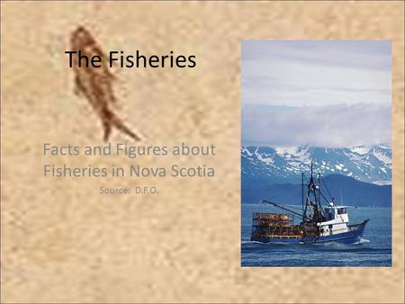 The Fisheries Facts and Figures about Fisheries in Nova Scotia Source: D.F.O.
