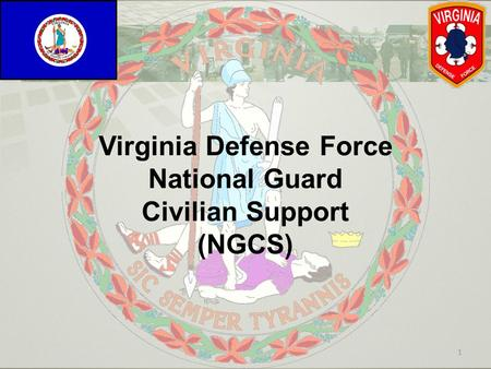 Virginia Defense Force National Guard Civilian Support (NGCS)