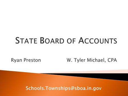 Ryan Preston W. Tyler Michael, CPA