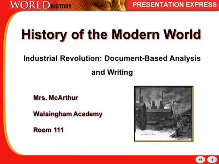 document based essay the first industrial revolution Read the industrial revolution free essay and over 88,000 other research documents the industrial revolution the industrial revolution, like most revolutions.